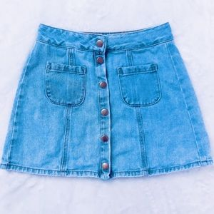 Brandy Melville Denim Button Skirt - Size 24